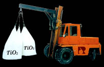 Delivery of chemical production (titanium dioxide)
